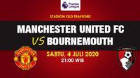 Banner Manchester United vs Bournemouth - Liga Inggris. (Triyasni)