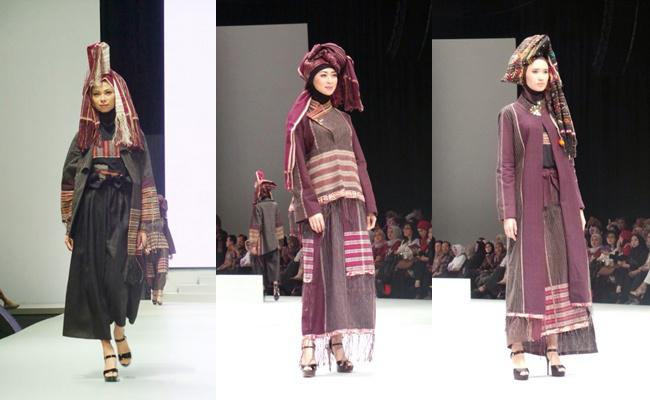 Begini Jadinya Jika Kain Batak Disulap Jadi Busana Muslim Fashion