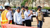 Kementerian PUPR tengah menyelesaikan pembangunan duplikasi Jembatan Surabaya yang berada di Praya, Lombok Tengah, Nusa Tenggara Barat (NTB). (Dok Kementerian PUPR)