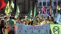 Demo aktivis lingkungan di Sydney, Australia.(Source: AP/ Rick Rycroft)
