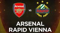 Liga Europa - ARsenal Vs Rapid Vienna (Bola.com/Adreanus Titus)