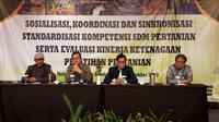 Hadir pada pertemuan tersebut Kepala Pusat Pelatihan Pertanian, Kepala UPT Pelatihan lingkup BPPSDMP, dan Penyuluh Pertanian Provinsi Jawa Barat. (Foto:@KEMENTAN)