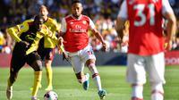 7. Pierre-Emerick Aubameyang (Arsenal) - Rating lari 95 di FIFA 20. (AFP/Ben Stansall)