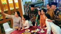 Keakraban AHY-Ibas dengan Megawati, Puan, dan Prananda (Foto: Liputan6/Putu Merta Surya Putra)