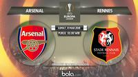 Liga Europa: Arsenal vs Rennes. (Bola.com/Dody Iryawan)