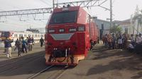 KA Pangrango siap melayani penumpang yang akan melakukan perjalanan dari dan ke Bogor dan Sukabumi. (Liputan6.com/Achmad Sudarno)