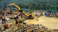 Aktivitas penambangan emas liar di Jambi.(Foto: Istimewa/Liputan6.com/B Santoso)