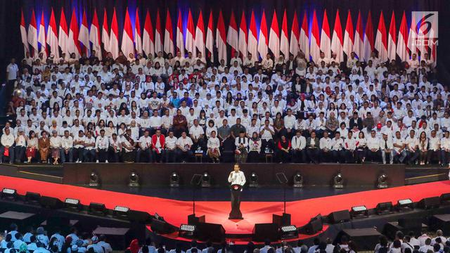 "Bersama Ma""ruf Amin, Jokowi Sampaikan Pidato Visi Indonesia"