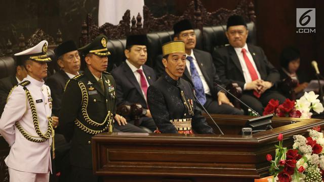 Pidato Presiden Jokowi Pada Sidang Tahunan Mpr