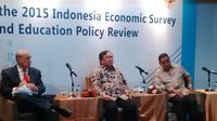 OECD menggelar Launch of the 2015 Indonesia Economic Survey and Education Politic Review di Hotel Borobudur, Jakarta. (Fiki Ariyanti/Liputan6.com)
