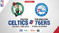 Jadwal NBA, Boston Celtics Vs Philadelphia 76ers. (Bola.com/Dody Iryawan)