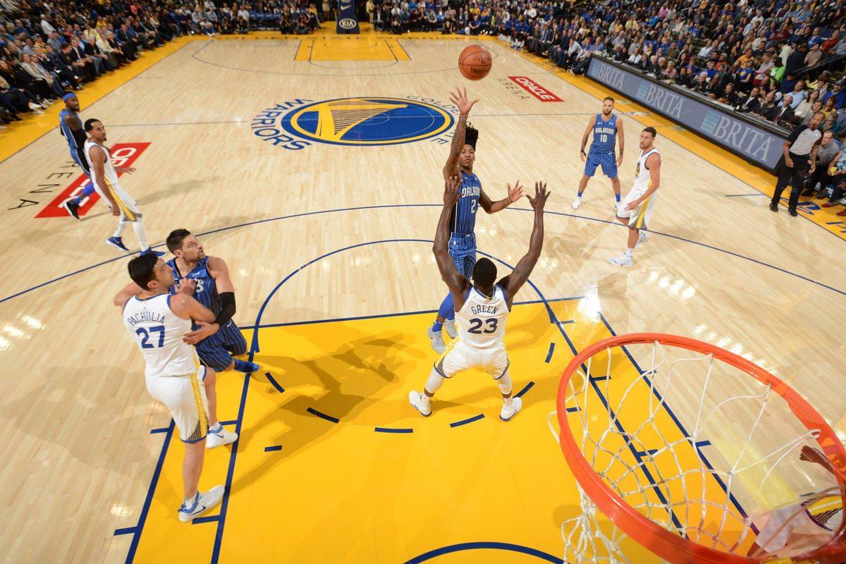 Orlando Magic vs Golden State Warriors (Twitter NBA)
