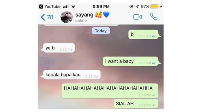 7 Respons Chat Pacar I Want A Baby Ini Kocak Parah Citizen6 Liputan6 Com