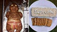 6 Kreasi Makanan Ini Bentuknya Nyeleneh, Bikin Geleng Kepala (sumber: Instagram.com/wkwkland_real dan Brainberries)