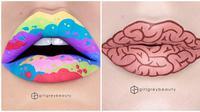 Lukisan Bibir. (Sumber: Boredpanda)