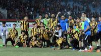 Timnas Malaysia U-19 melangkah ke final Piala AFF U-19 2018 setelah mengalahkan Indonesia 4-3 (1-1), Kamis (12/7/2018). (Bola.com/Zaidan Nazarul)