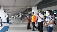 Menteri Perhubungan Budi Karya Sumadi, mengecek langsung penerapan protokol kesehatan dan safety and healthy campaign di Terminal 3 Bandara Internasional Soekarno Hatta, Jumat (18/9/2020).