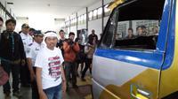Pernyataan soal angkutan umum itu disampaikan Bupati Purwakarta Dedi Mulyadi saat sidak. (Liputan6.com/Abramena)