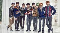 BTOB debut pada 21 Maret 2012, grup ini beranggotakan Minhyuk, Eunkwang, Hyunsik, Peniel, Ilhoon, Sungjae, danChangsub. Terakhir mereka melakukan comeback pada Oktober 2017. (Foto: soompi.com)