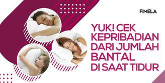Cek Kepribadian Kamu dari Jumlah Bantal Yang Dipakai Saat Tidur