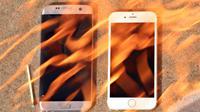 Ilustrasi smartphone panas