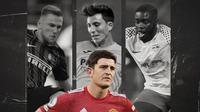 Harry Maguire, Dayot Upamecano, Pau Torres dan Milan Skriniar. (Bola.com/Dody Iryawan)