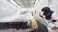 Salah satu ruangan di PRO Motor untuk body and paint