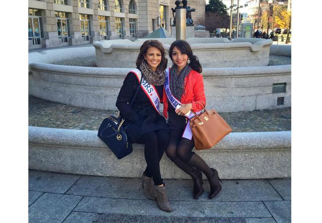 Imelda bersama Mrs World 2013 | Foto: dok pribadi/Imelda Budiman