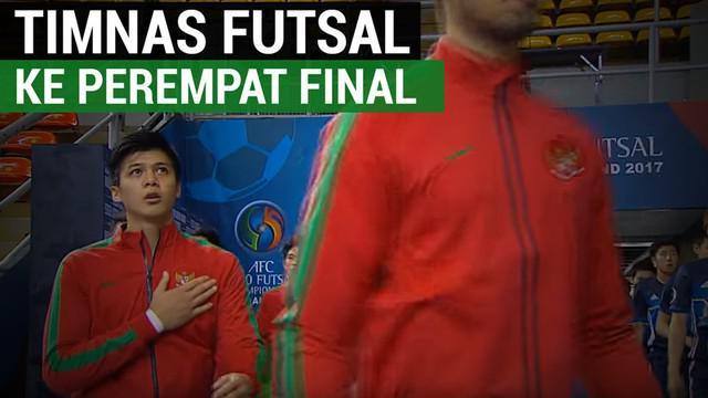 Berita video tentang Timnas Indonesia lolos ke Semifinal Piala Asia Futsal U-20 setelah imbang melawan Jepang.