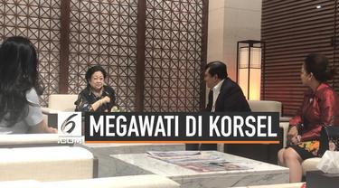 Presiden ke-5 RI Megawati Soekarnoputri menjadi pembicara dalam forum damai di Seoul, Korea Selatan. Mega ingin Korea Utara dan Korea Selatan bersatu seperti Jerman.