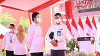 Presiden Joko Widodo meresmikan Instalasi Pengolah Sampah Menjadi Energi Listrik (PSEL) Berbasis Teknologi Ramah Lingkungan Benowo Surabaya, Kamis, 6 Mei 2021. Dok PLN