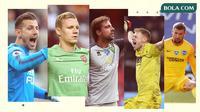Kiper-kiper di Premier League: Martin Dubravka, Bernd Leno, Tim Krul, Aaron Ramsdale, Mat Ryan. (Bola.com/Dody Iryawan)