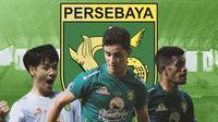 Persebaya Surabaya - Taisei Marukawa, Bruno Moreira, Ricky Kambuaya (Bola.com/Adreanus Titus)