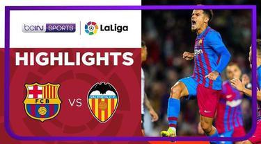 Berita Video, Hasil Pertandingan Barcelona Vs Valencia pada Senin (18/10/2021)