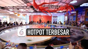 Dalam China International Import Expo (CIIE) yang diselenggarakan di Shanghai, China, terdapat hotpot terbesar di dunia dengan berat 2.000 kilogram dan mampu memberi makan 56 orang sekaligus.