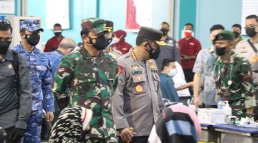 Kapolri Jenderal Pol Listyo Sigit Prabowo mengatakan, kasus harian Covid-19 di Indonesia sudah melandai.