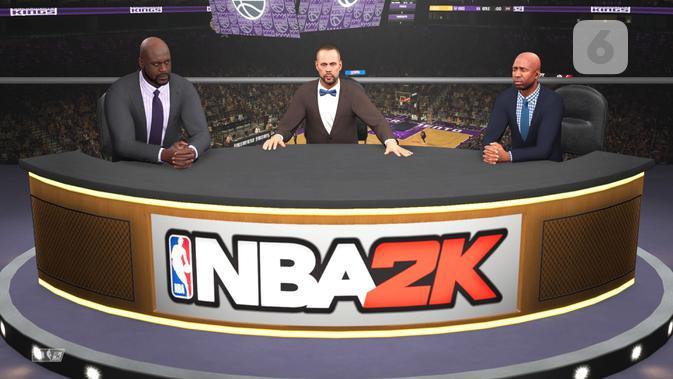 Paruh waktu setiap pertandingan selalu ada analisanya, seperti dipertandingan NBA di dunia nyata. (Liputan6.com/ Yuslianson)