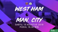 Premier League - West Ham United Vs Manchester City (Bola.com/Adreanus Titus)