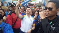 Direktur Utama Indofood, Axton Salim saat puncak pawai obor Asian Games 2018 (Cakrayuri Nuralam)