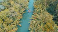 Sungai Cigenter di Pulau Handeleum, Taman Nasional Ujung Kulon, Banten. (Instagram/mamduh.j)
