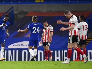 Foto Liga Inggris: Chelsea Ngamuk, Sheffield United Digilas 4-1