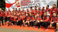 Kapolda Metro Jaya dan Pagdam Jaya dan Gubernur DKI Jakarta bersepeda bersama dari Kodam Jaya hingga ke Polda Metro Jaya, pada Sabtu (30/11/2019).