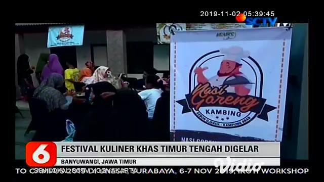 Sepekan sekali potensi kuliner Timur Tengah di kota Banyuwangi, Jawa Timur disajikan melalui event Arabian Street Food, sajian khas berbahan baku khas kambing menarik perhatian warga.