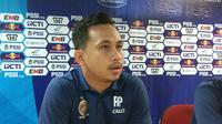 Rangga Pratama, kiper Sriwijaya FC yang tidak akan berlaga lagi di Piala Indonesia (Liputan6.com / Nefri Inge)