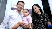Raffi Ahmad, Rafathar dan Nagita Slavina. (Adrian Putra/Bintang.com)