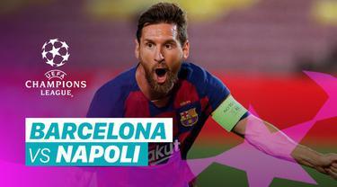 Berita video gol-gol yang tercipta pada laga Barcelona vs Napoli pada leg II babak 16 besar Liga Champions 2019/2020, termasuk torehan fantastis Lionel Messi.