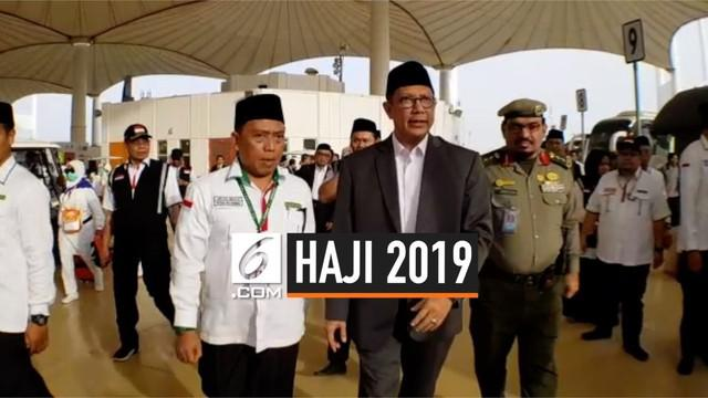 Menteri Agama Lukman Hakin Saifuddin meninjau jalannya ibadah haji jemaah Indonesia di Arab Saudi.