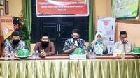 KPU Mamuju saat mengumumkan hasil verifikasi dokumen syarat calon (Foto: Liputan6.com/Abdul Rajab Umar)