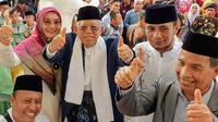 Cawapres Ma'ruf Amin menghadiri acara tabligh akbar di Sumatera Utara. (Liputan6.com/Putu Merta Surya Putra)