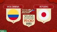 Piala Dunia 2018 Kolombia Vs Jepang (Bola.com/Adreanus Titus)
